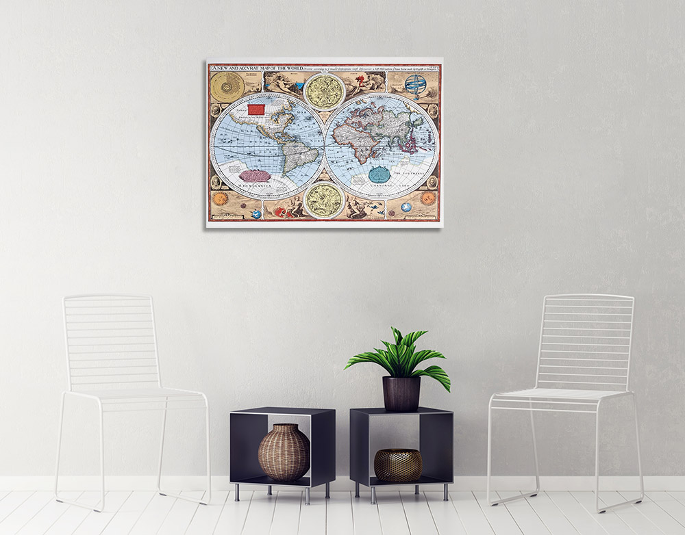Vintage Map Wall Art Print