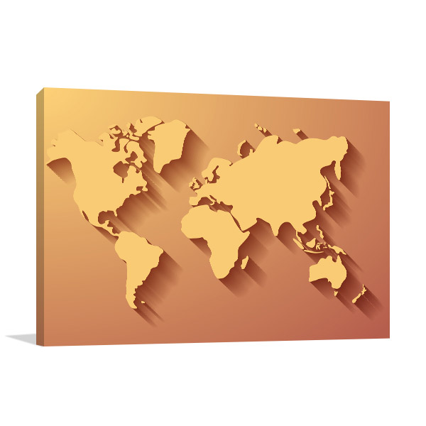 3 Dimensional Map Canvas Prints