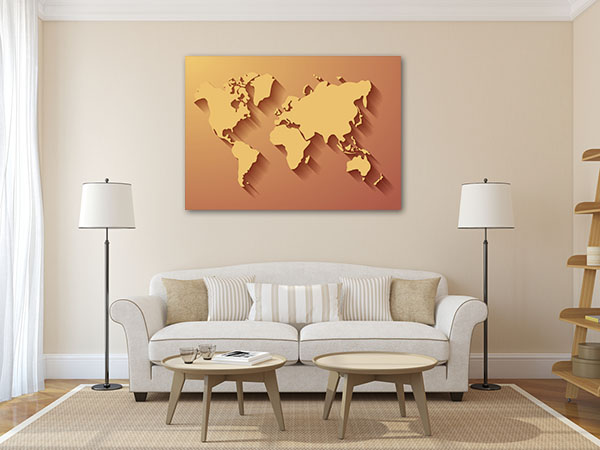 3 Dimensional Map Canvas Art Prints