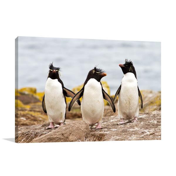 3 Penguins Canvas Art