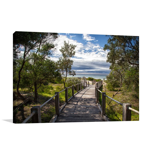 7 Mile Beach Art Print Wooden Boardwalk Canvas Prints