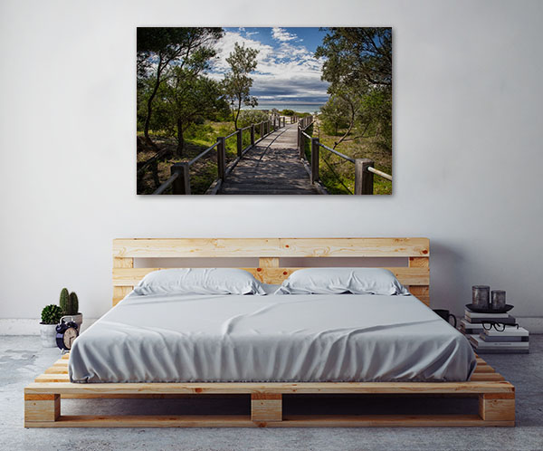 7 Mile Beach Art Print Wooden Boardwalk Canvas Wall Art