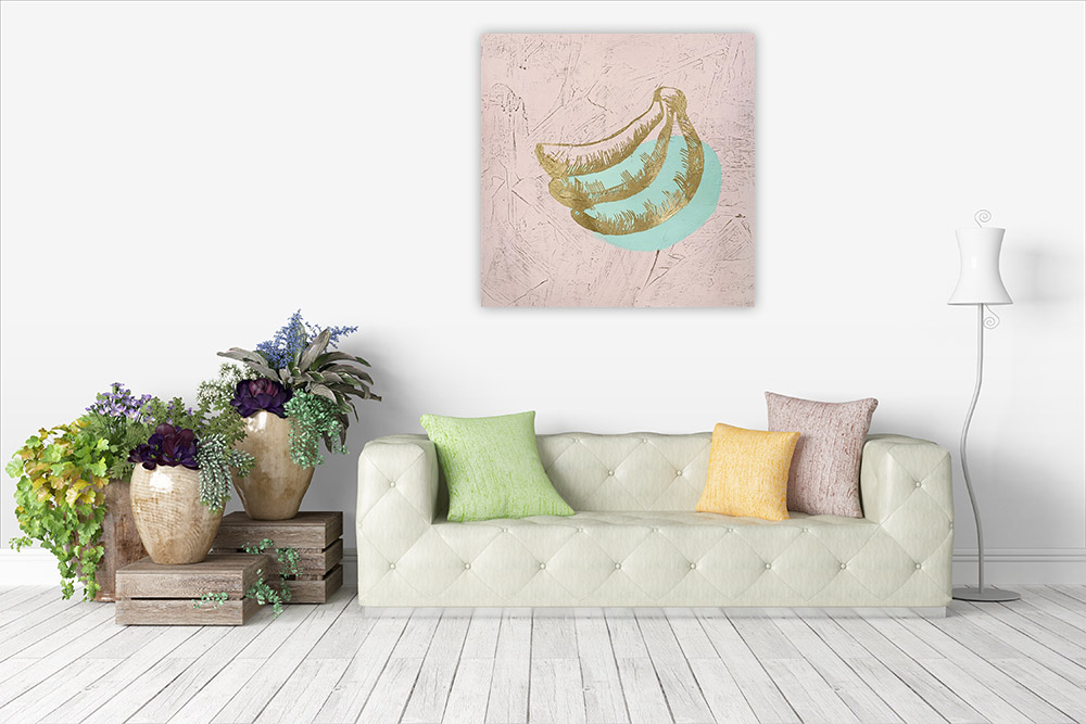 Living Room Square Wall Print