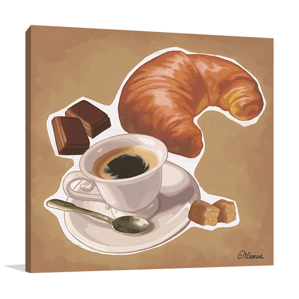 A Croissant Print on Canvas