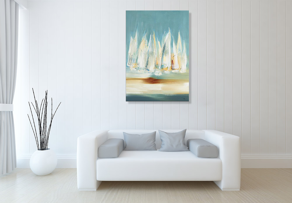 Contemporary Abstract Seascape Canvas Print