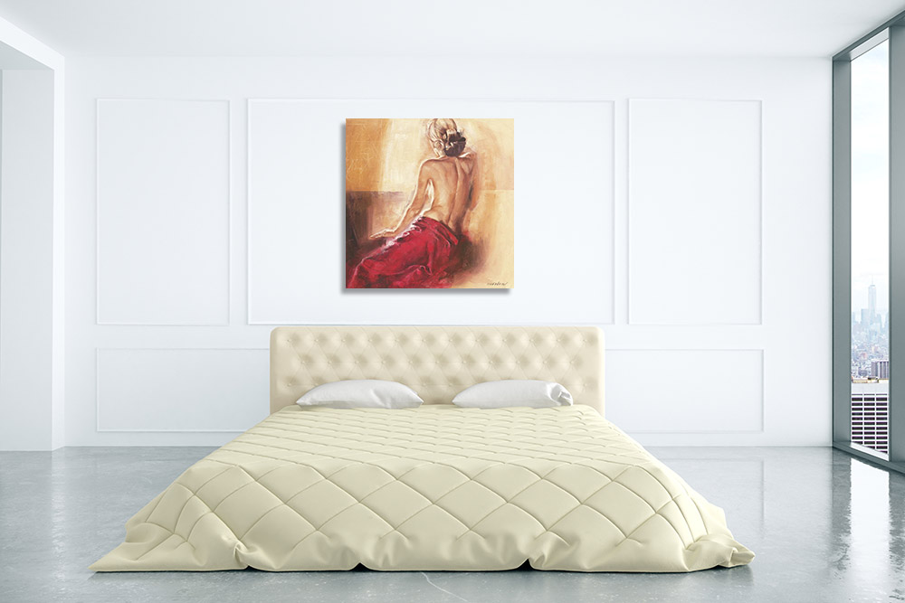 Nude Female Art Canvas Print
