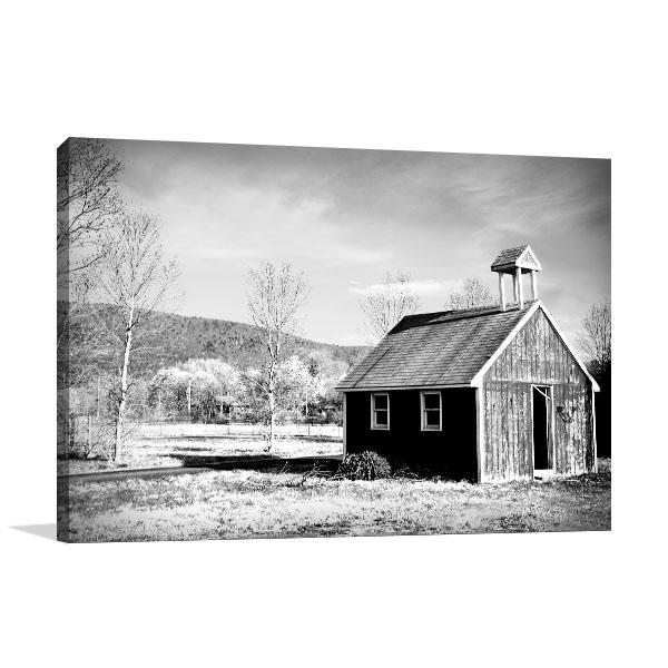 Abandoned Barn On A Farm Canvas Prints
