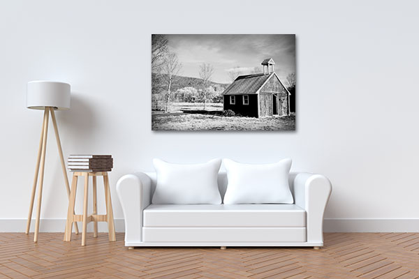 Abandoned Barn On A Farm Canvas Art