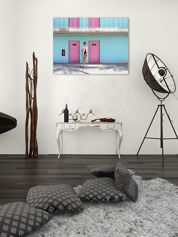 Abandoned Motel Wall Art Print