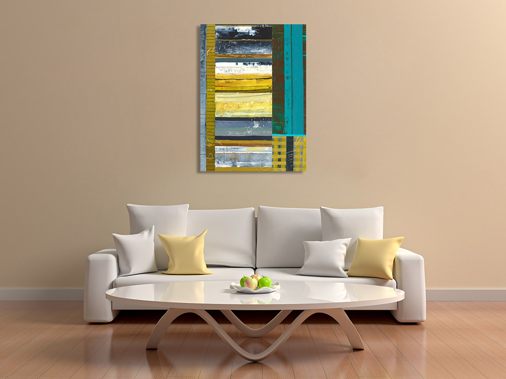 Geometric Abstract Artwork Canvas Print
