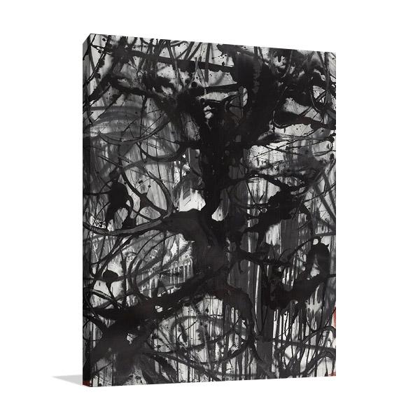 Abstract Calligraphy Ink Print | Ngo PC