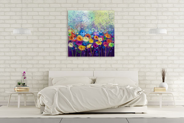 Abstract Floral Canvas Art Prints