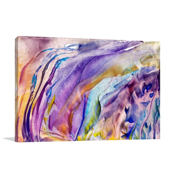 Abstract Flower Canvas Art