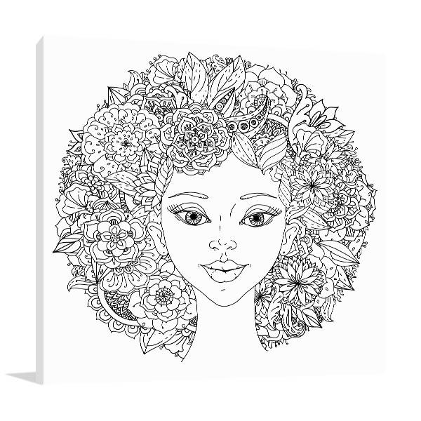 Abstract Hair Art Prints