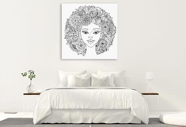 Abstract Hair Wall Art