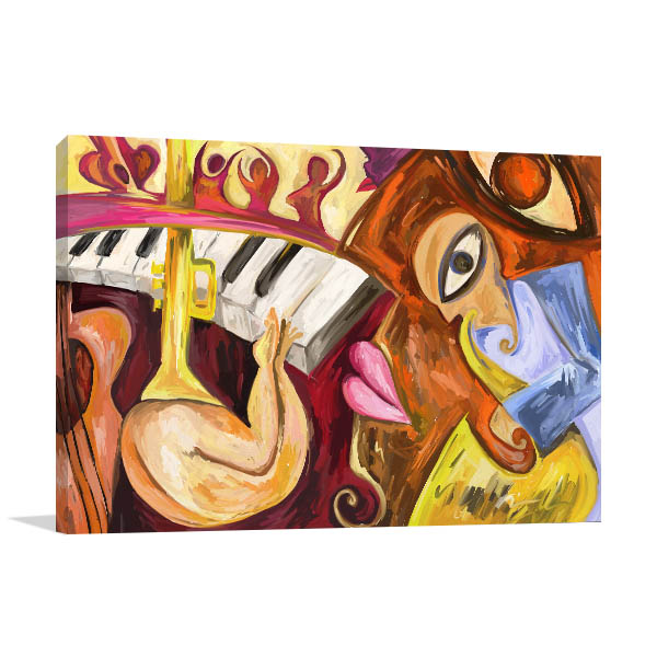 Abstract Jazz Music Wall Art