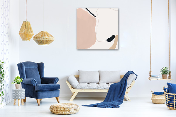 Abstract Minimalism Pastel Print Art Canvas