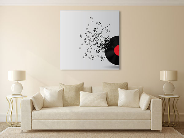 Abstract Music Disk Canvas Prints