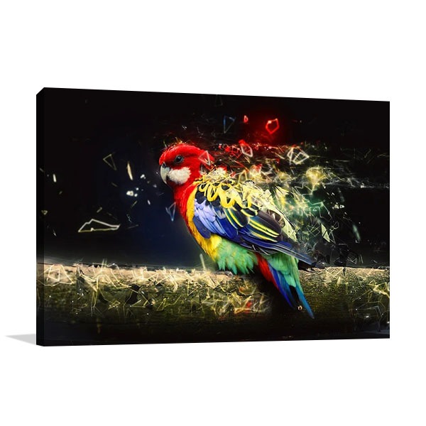 Abstract Parrot Bird Print on Canvas