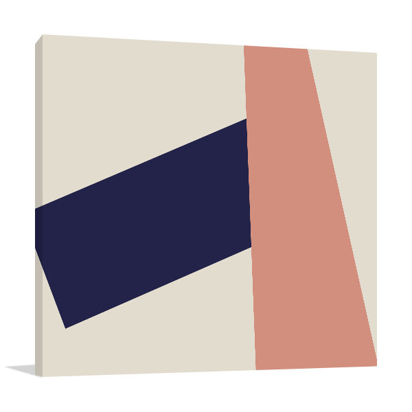Abstract Retro Geometric Canvas Prints