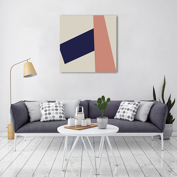 Abstract Retro Geometric Prints Canvas