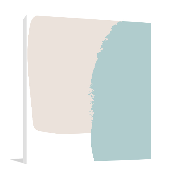Abstraction Pastel Art Print Canvas Wall