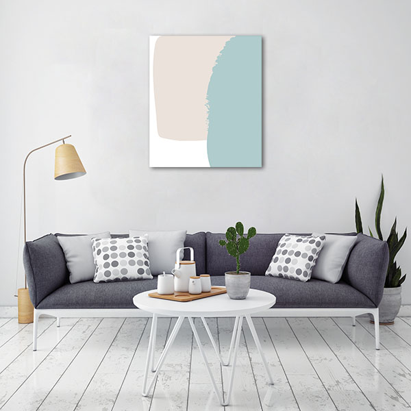 Abstraction Pastel Artwork Canvas