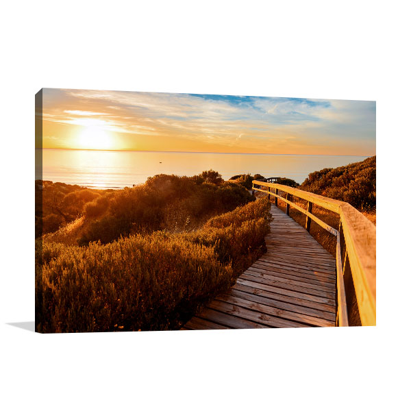 Adelaide Art Print Hallet Cove at Sunset