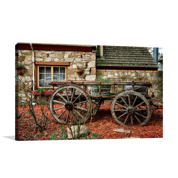 Adelaide Old Cart in Town Canvas Art Prints