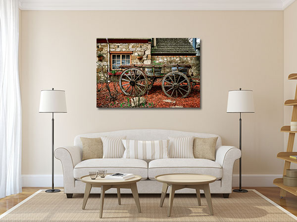 Adelaide Old Cart in Town Prints Canvas