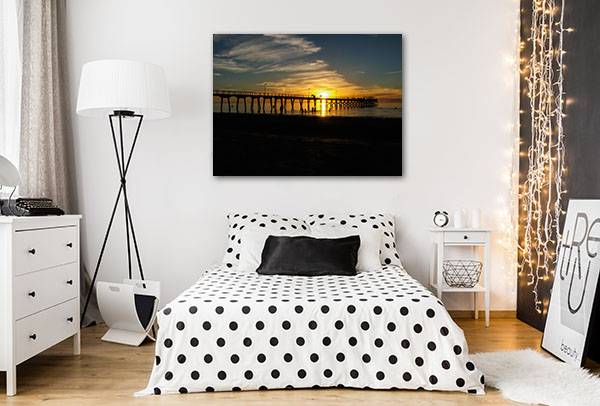 Adelaide Orange Sunset Prints Canvas
