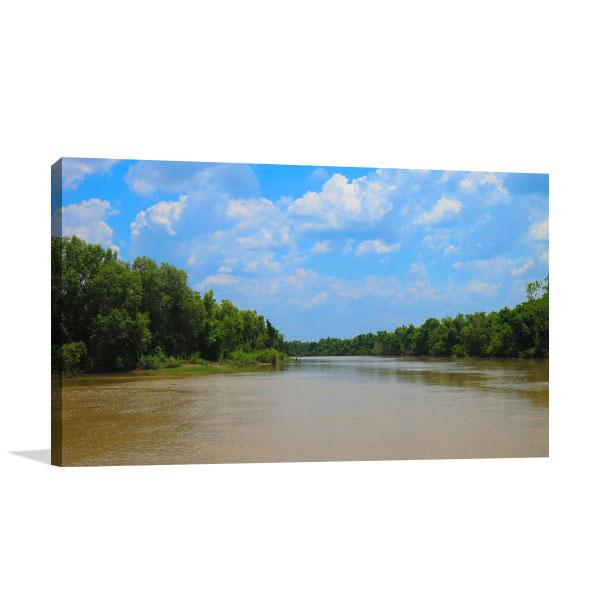 Adelaide River Salt Water Canvas Photo Print