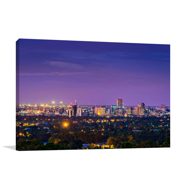 Adelaide Wall Art Print City Twilight