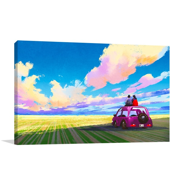 Adventure Lovers Print Art Canvas