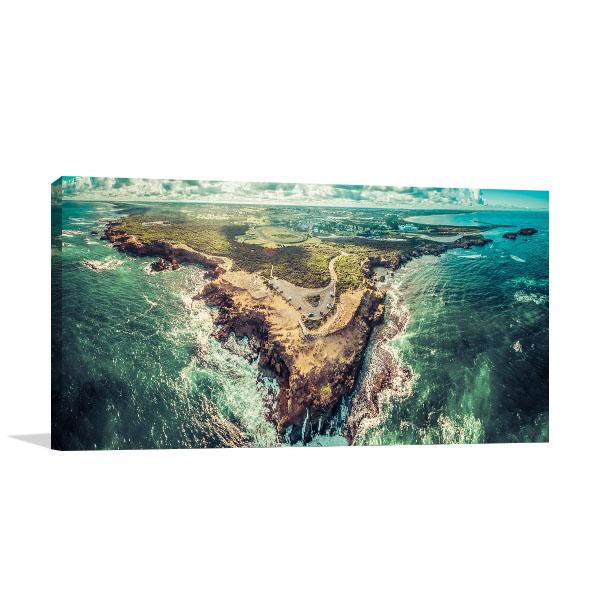 Aerial Thunder Point Warnambool Canvas Prints