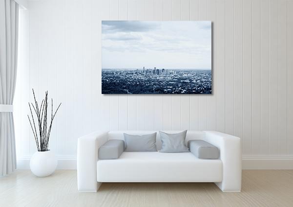 Aerial View of Brisbane City Canvas Art Prints