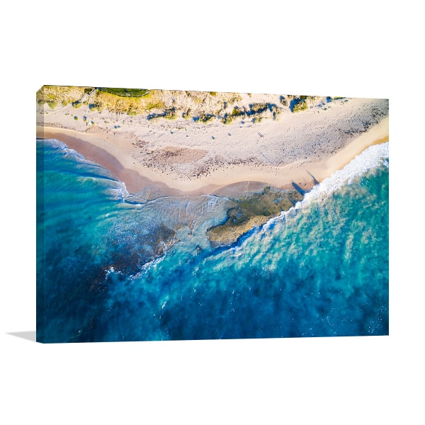 Aerial View of Halls Head Perth Print Artwork