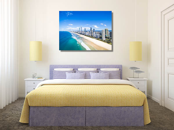 Aerial View of Surfers Paradise Prints Canvas