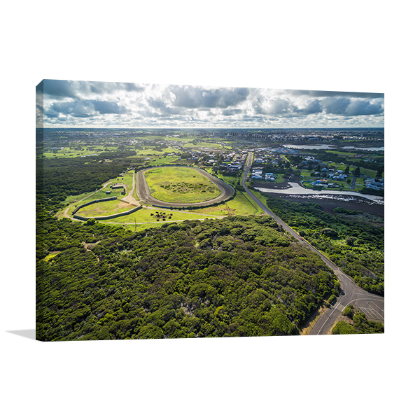 Aerial view of Warrnambool Canvas Art Prints