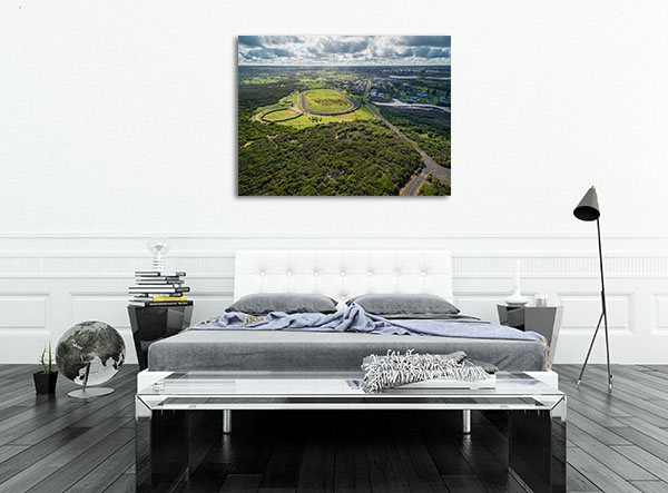 Aerial view of Warrnambool Prints Canvas
