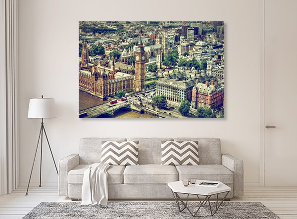 Aerial View UK Canvas Prints