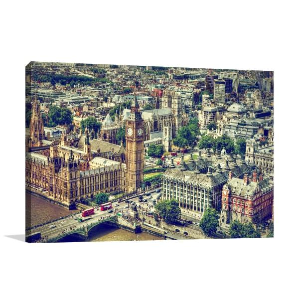 Aerial View UK Prints Canvas