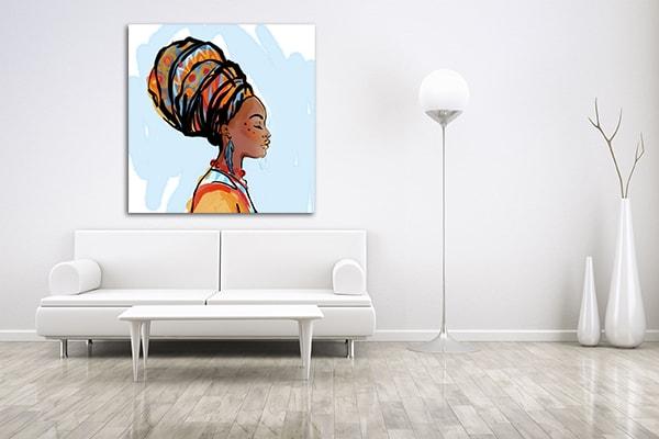 African Beauty Print Artwork