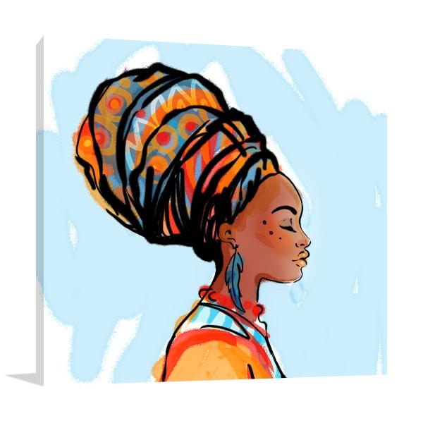 African Beauty Canvas Art
