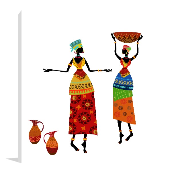 African Costume Art Prints