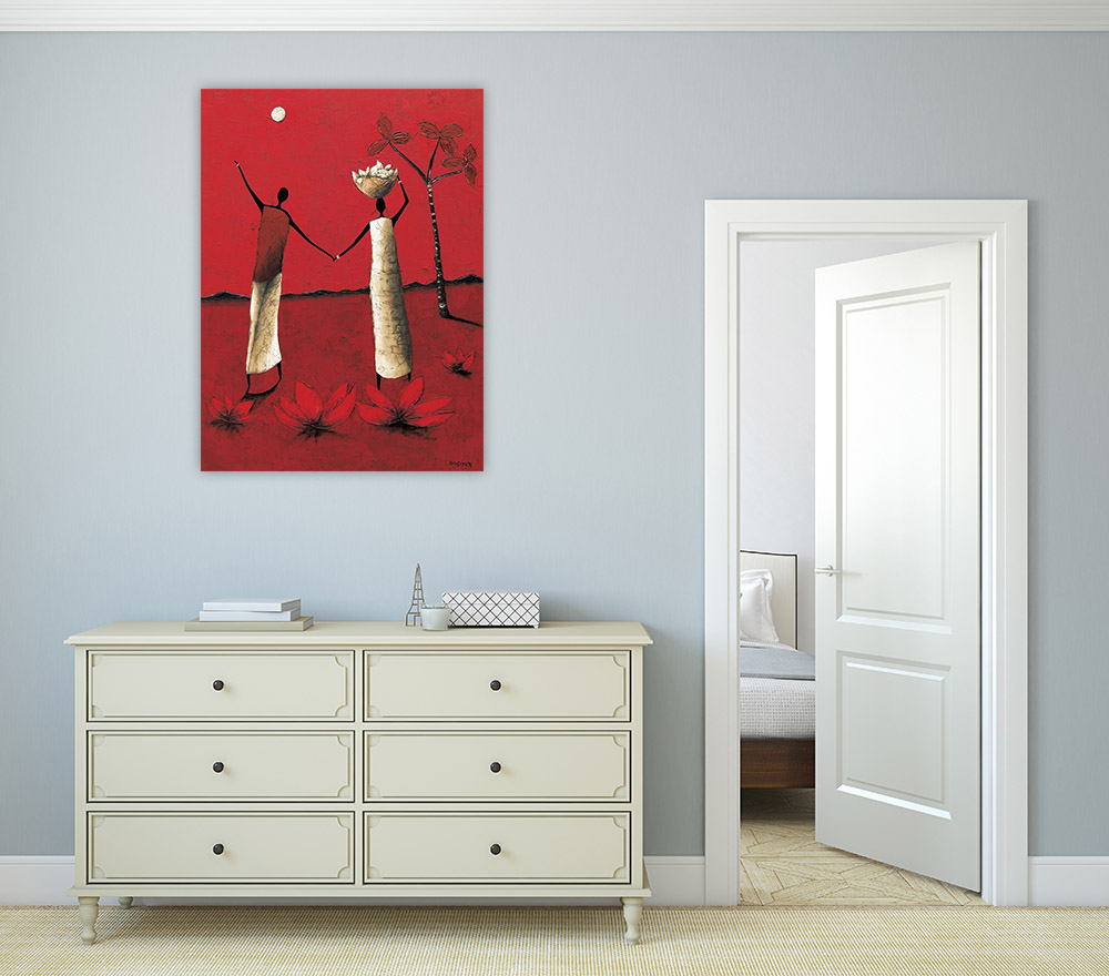 Figurative Red Wall Art Print
