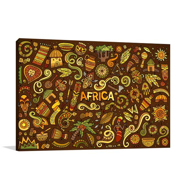 African Doodle Canvas Prints