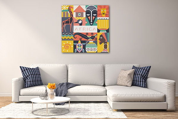 African Illustration Canvas Art