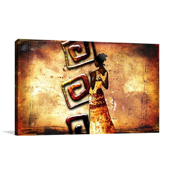 African Kenya Retro Canvas Prints