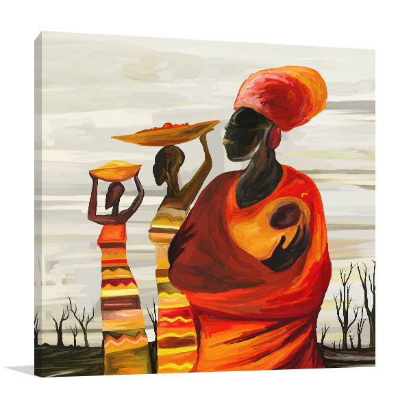African Mother Canvas Prints
